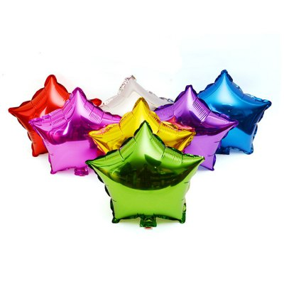 10 inch Five-pointed Star Inflating Foil Balloon Auto-Seal Party Decoration Toy for Kids / Adult