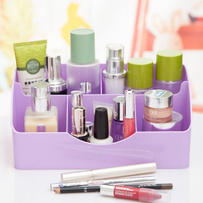 Multi-functional Makeup Storage Box Cosmetic OrganizerStorage Boxes &amp; Bins<br>Multi-functional Makeup Storage Box Cosmetic Organizer<br><br>Materials: Plastic<br>Available color: Green,Pink,Purple<br>Product Size(L x W x H): 25.20 x 13.30 x 11.60 cm / 9.92 x 5.24 x 4.57 inches<br>Package Size(L x W x H): 27.00 x 16.00 x 13.00 cm / 10.63 x 6.30 x 5.12 inches<br>Package Contents: 1 x Makeup Storage Box