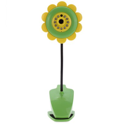 Cute Sunflower Wireless Baby Security CameraLiving Appliances<br>Cute Sunflower Wireless Baby Security Camera<br><br>Type: Eco-friendly,Novelty,Practical,Safety<br>For: All<br>Material: Plastic<br>Occasion: Bedroom,Dining Room,Home,Living Room,Office,Outdoor<br>Color: Green<br>Product weight: 0.170 kg<br>Package weight: 0.297 kg<br>Package size (L x W x H): 29.80 x 9.50 x 9.00 cm / 11.73 x 3.74 x 3.54 inches<br>Package Contents: 1 x Sunflower Wireless Baby Camera Monitor, 1 x Charger, 1 x Cable,  1 x English User Manual
