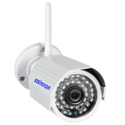 Szsinocam SN-8003A Security Alarm IP Camera HD Images with IR LensIP Cameras<br>Szsinocam SN-8003A Security Alarm IP Camera HD Images with IR Lens<br><br>Brand: Sinocam<br>Model: SN-8003A<br>Shape: Bullet Camera<br>Technical Feature : Infrared<br>Specification of Power Supply: 12V / 2A<br>IP camera performance : Motion Detection,Night Vision,Support video control<br>Web Browser: IE<br>DDNS (free): Yes<br>Video Compression Format: H.264<br>Sensor size (inch): 1/4<br>Pixels: 1MP<br>Video format: MJPEG<br>Resolution: 1280 x 720,1920 ? 1080<br>Image Adjustment: Brightness,Color saturation,Contrast<br>Electronic Shutter: 1/25s - 1/30,000s<br>Audio Compression Mode: G.711<br>Infrared LED: 36pcs LEDs<br>Infrared Distance: 20m<br>Environment: Outdoor<br>Waterproof: IP66<br>Operate Temperature (?): -10 to 55 Degrees<br>Working Humidity (%) RH: 10 - 85 Percent<br>Product weight: 0.620 kg<br>Package weight: 1.050 kg<br>Product size (L x W x H): 19.50 x 10.00 x 10.70 cm / 7.68 x 3.94 x 4.21 inches<br>Package size (L x W x H): 23.00 x 12.00 x 12.00 cm / 9.06 x 4.72 x 4.72 inches<br>Package Contents: 1 x IP Camera, 1 x Mounting Screw, 1 x Power Adapter, 1 x CD Disk