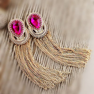 ER-5228 Rhinestone Earrings for Ladies 1 Pair