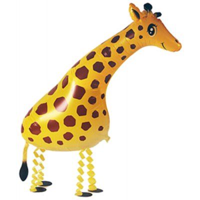 Walking Giraffe Inflating Foil Balloon Auto-Seal Party Birthday Decor Toy for Kid / Adult