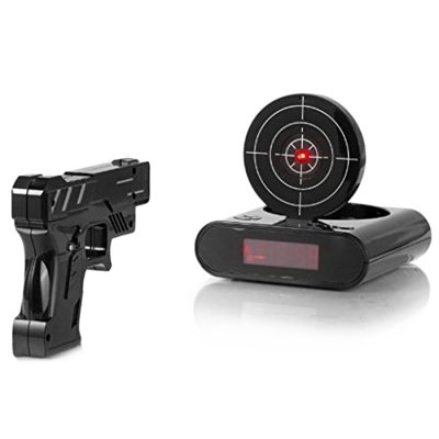 Excellent Crazy Clock / Alarm Infrared Sensing Shooting Function LCD Screen
