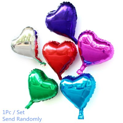 10 inch Heart Inflating Foil Balloon Auto-Seal Party Decoration Toy for Kids / Adult