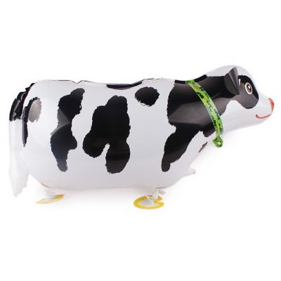 Milk Cow Inflating Foil Balloon Auto-Seal Party Birthday Decor Toy for Kid / Adult