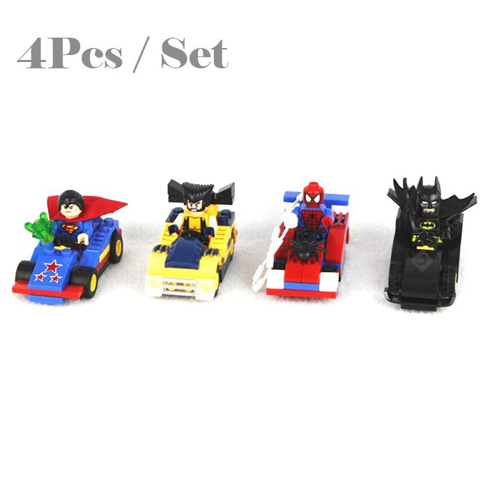 LEPIN Super Hero Minifigure Car Model Set Building Brick Educational Toy / Set-9.09 Online Shopping GearBest.com