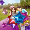 10 inch Five-pointed Star Inflating Foil Balloon Auto-Seal Party Decoration Toy for Kids / Adult for sale