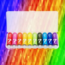 10PCS Original XiaoMi Rainbow AAA Alkaline Battery