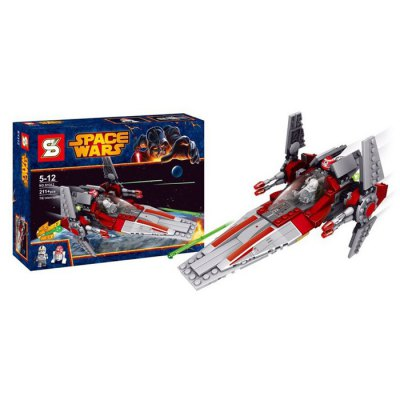SY312 Block V - wing Starfighter Style Educational Toy for Children 211Pcs / Set