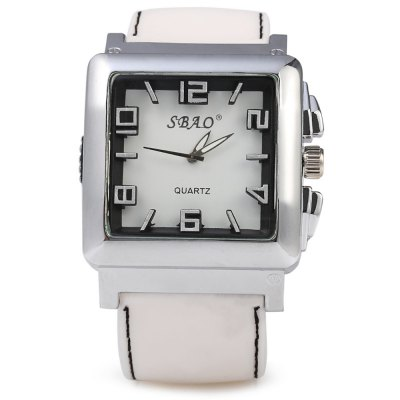 SBAO Rectangle Dial Quartz Male Watch with Rubber BandMens Watches<br>SBAO Rectangle Dial Quartz Male Watch with Rubber Band<br><br>Brand: Sbao<br>Watches categories: Male table<br>Watch style: Casual<br>Available color: Black,Blue,Green,White<br>Movement type: Quartz watch<br>Shape of the dial: Rectangle<br>Display type: Analog<br>Case material: Stainless Steel<br>Band material: Rubber<br>Clasp type: Pin buckle<br>The dial thickness: 1.4 cm / 0.55 inches<br>The dial diameter: 4.5 cm / 1.77 inches<br>The band width: 3.0 cm / 1.18 inches<br>Wearable length: 18.5 - 24 cm / 7.28 - 9.45 inches<br>Product weight: 0.101 kg<br>Package weight: 0.131 kg<br>Product size (L x W x H): 26.50 x 4.50 x 1.40 cm / 10.43 x 1.77 x 0.55 inches<br>Package size (L x W x H): 27.50 x 5.50 x 2.40 cm / 10.83 x 2.17 x 0.94 inches<br>Package Contents: 1 x Male Watch