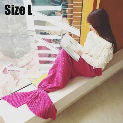 Wool Knitting Material Mermaid Tail Blanket