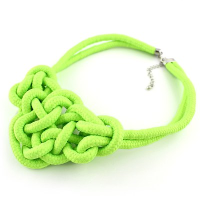 NC-3864 Woven Twisted Necklace Candy Color for WomenNecklaces &amp; Pendants<br>NC-3864 Woven Twisted Necklace Candy Color for Women<br><br>Occasions: Casual,Party,Performance,Personalized Photo<br>Style: Fashion<br>Fabric: Polyester<br>Color: Apple Green,Blue,Grass Green,Rose,Water Red<br>Product weight: 0.072 kg<br>Package weight: 0.102 kg<br>Package size (L x W x H): 10.00 x 10.00 x 10.00 cm / 3.94 x 3.94 x 3.94 inches<br>Package Contents: 1 x Necklace