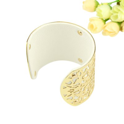 BR-5215 Fashionable Hollow-out Bracelet Wrist OrnamentBracelets &amp; Bangles<br>BR-5215 Fashionable Hollow-out Bracelet Wrist Ornament<br><br>Occasions: Casual,Gift,Party,Performance,Personalized Photo<br>Material: PU + Zinc Alloy<br>Gender: Unisex<br>Style: Fashion<br>Product weight: 0.049 kg<br>Package weight: 0.079 kg<br>Package size (L x W x H): 10.00 x 10.00 x 10.00 cm / 3.94 x 3.94 x 3.94 inches<br>Package Contents: 1 x Bracelet