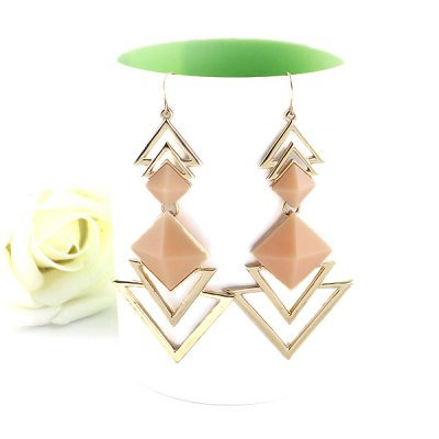 ER-7258 1 Pair Hollow-out Triangle Design Ear Studs Ladies EarringsEarrings<br>ER-7258 1 Pair Hollow-out Triangle Design Ear Studs Ladies Earrings<br><br>Occasions: Casual,Party,Performance,Personalized Photo<br>Gender: Women<br>Style: Fashion<br>Fabric: Zinc Alloy<br>Jewelry Silhouette: Pendant<br>Package Quantity: 1 Pair<br>Color: Black,Green,Pink,Red<br>Product weight: 0.018 kg<br>Package weight: 0.048 kg<br>Product size (L x W x H): 8.00 x 4.00 x 1.00 cm / 3.15 x 1.57 x 0.39 inches<br>Package size (L x W x H): 10.00 x 10.00 x 10.00 cm / 3.94 x 3.94 x 3.94 inches<br>Package Contents: 1 x Pair of Earrings