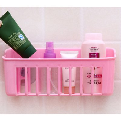 Plastic Kitchen Storage Basket with Double Suction Cup