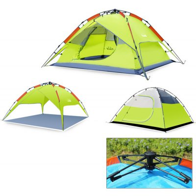 Hewolf 3-Person 3-Season 2-Layer Automatic Camping Tent