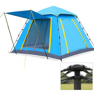 Hewolf 4-Person Summer Automatic Camping Tent