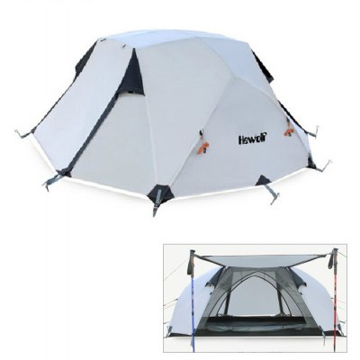 Hewolf 2-Person Dual Layer 3-Season Camping Tent