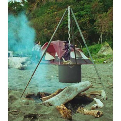 ALOCS CW-RT01 15L Camping Hung Pot with Folding Handle