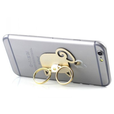 Dual Ring Stand Sheep Design One Hand Holder for Mobile Phones