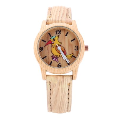 Geneva 150717-3 Wood-like Woodpecker Female Quartz WatchWomens Watches<br>Geneva 150717-3 Wood-like Woodpecker Female Quartz Watch<br><br>Brand: Geneva<br>Watches categories: Female table<br>Movement type: Quartz watch<br>Shape of the dial: Round<br>Display type: Analog<br>Case material: Stainless Steel<br>Band material: Leather<br>Clasp type: Pin buckle<br>The dial thickness: 0.9 cm / 0.35 inches<br>The dial diameter: 3.0 cm / 1.18 inches<br>The band width: 1.5 cm / 0.59 inches<br>Wearable length: 18.0 - 22.0 cm / 7.09 - 8.66 inches<br>The band length: 23.5 cm / 9.25 inches<br>Product weight: 0.024 kg<br>Package weight: 0.054 kg<br>Product size (L x W x H): 23.50 x 3.30 x 0.90 cm / 9.25 x 1.30 x 0.35 inches<br>Package size (L x W x H): 24.50 x 4.30 x 1.90 cm / 9.65 x 1.69 x 0.75 inches<br>Package Contents: 1 x Geneva Watch