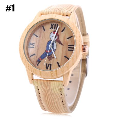 Geneva 150717-1 Wood-like Woodpecker Female Quartz Watch