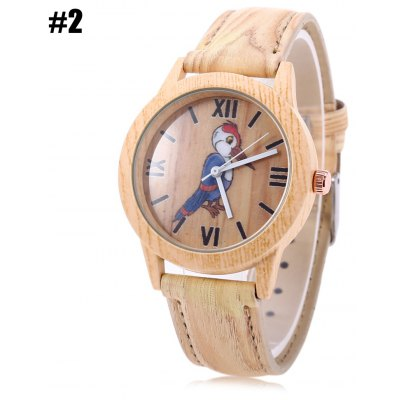 Geneva 150717-2 Wood-like Woodpecker Female Quartz Watch