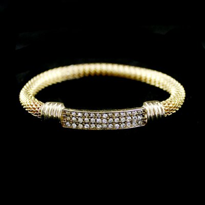 BR-7223 Delicate Elastic Bracelet Wrist Ornament with DiamondBracelets &amp; Bangles<br>BR-7223 Delicate Elastic Bracelet Wrist Ornament with Diamond<br><br>Occasions: Casual,Gift,Party,Performance,Personalized Photo<br>Material: Zinc Alloy<br>Gender: Woman<br>Style: Fashion<br>Product weight: 0.015 kg<br>Package weight: 0.035 kg<br>Package size (L x W x H): 10.00 x 10.00 x 10.00 cm / 3.94 x 3.94 x 3.94 inches<br>Package Contents: 1 x Bracelet