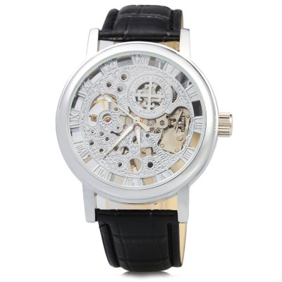 Hollow-out Dial Relief Automatic Mechanical Watch for MenMechanical Watches<br>Hollow-out Dial Relief Automatic Mechanical Watch for Men<br><br>Watches categories: Male table<br>Watch style: Hollow-out<br>Available color: Gold,Silver<br>Movement type: Mechanical watch<br>Shape of the dial: Round<br>Display type: Analog<br>Case material: Stainless Steel<br>Band material: Leather<br>Clasp type: Pin buckle<br>Band color: Black<br>Special features: Tourbillon<br>The dial thickness: 1.2 cm / 0.47 inches<br>The dial diameter: 4.4 cm / 1.73 inches<br>The band width: 1.9 cm / 0.75 inches<br>Wearable length: 17.5 - 21.5 cm / 6.89 - 8.46 inches<br>Product weight: 0.050KG<br>Package weight: 0.100 KG<br>Product size (L x W x H): 25.50 x 4.40 x 1.20 cm / 10.04 x 1.73 x 0.47 inches<br>Package size (L x W x H): 26.50 x 5.50 x 2.50 cm / 10.43 x 2.17 x 0.98 inches<br>Package Contents: 1 x Male Watch