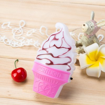 Ice Cream Shaped LED Night Light Romantic Nightlight Bedside Lamp