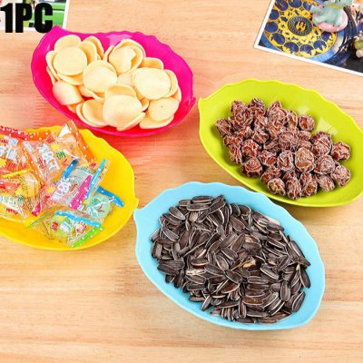 Plastic Leaf Shaped Candy Dish Fruit Plate