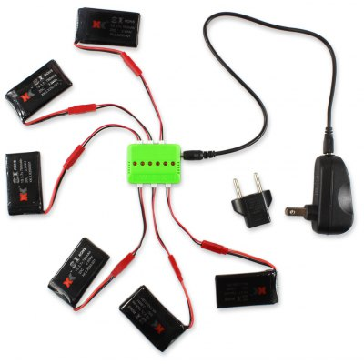 WSX / MX X6A - B06 6Pcs 3.7V 780mAh 20C Battery with Charger / Cable Set