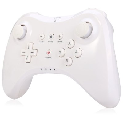 Wireless Bluetooth Game Controller with U Pro Style for Nintendo Wii UGame Controllers<br>Wireless Bluetooth Game Controller with U Pro Style for Nintendo Wii U<br><br>Battery Type: Built-in<br>Battery Voltage: 3.7V<br>Bluetooth Version: V4.0<br>Capacity: 500mAh<br>Charge way: USB Charge<br>Compatible with: Wii U<br>Connection Type: Bluetooth<br>Features: Joystick<br>Functions: Bluetooth<br>Package Contents: 1 x Game Controller, 1 x Charging USB Cable ( 1.8m ), 1 x English Use Manual<br>Package size: 16.10 x 14.70 x 6.20 cm / 6.34 x 5.79 x 2.44 inches<br>Package weight: 0.329 kg<br>Product size: 16.00 x 10.50 x 5.80 cm / 6.30 x 4.13 x 2.28 inches<br>Product weight: 0.196 kg<br>Working Time: About 20 hours ( without vibration )