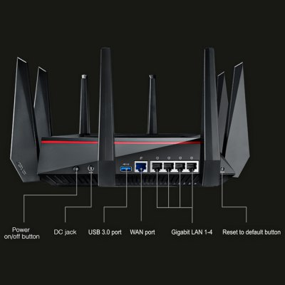 Original ASUS RT-AC5300 5334Mbps Wireless Router Tri-band AC5300 Network DeviceWireless Routers<br>Original ASUS RT-AC5300 5334Mbps Wireless Router Tri-band AC5300 Network Device<br><br>Brand: ASUS<br>Brand Name: ASUS<br>Frequency Band: 2.4GHz / 5GHz<br>Interface: WAN, USB 3.0, LAN<br>LAN Ports: 4 ports<br>Max. LAN Data Rate: 1200Mbps above<br>Model: RT-AC5300<br>Network Protocols: IEEE 802.11ac,IEEE 802.11b,IEEE 802.11g,IEEE 802.11n<br>Package size: 28.50 x 28.50 x 10.50 cm / 11.22 x 11.22 x 4.13 inches<br>Package weight: 3.290 kg<br>Packing List: 1 x Original ASUS RT-AC5300 5334Mbps Wireless Router, 1 x Power Adapter, 1 x CD, 1 x LAN Cable, 1 x Chinese Manual<br>Product size: 24.50 x 24.50 x 6.50 cm / 9.65 x 9.65 x 2.56 inches<br>Product weight: 1.810 kg<br>Router Connectivity Type: Ethernet<br>Supports System: Win7 32, Win8 32, Win7 64, Win XP, Win vista, Win 2008, Win 2000, MAC OS X, Linux, Win8 64<br>Transmission Rate: 5334Mbps<br>Type: Router<br>Wireless Security: WPA-Enterprise, 64/128 Bit WEP, WPA2-PSK, WPA2-Enterprise, WPA-PSK, WPS<br>Wireless Standard: Wireless AC,Wireless N