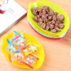 cheap Plastic Leaf Shaped Candy Dish Fruit Plate