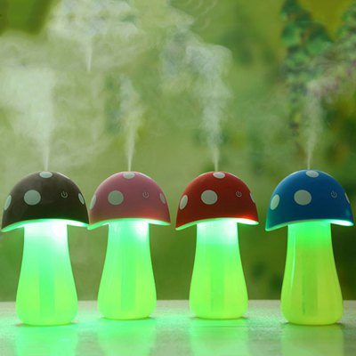 Portable Mushroom Shape Lamp HumidifierAir Purifier<br>Portable Mushroom Shape Lamp Humidifier<br><br>Color: Blue,Coffee,Pink,Red<br>For: All<br>Functions: Multi-functions<br>Material: Plastic, Electronic Components<br>Occasion: Living Room, Others, Outdoor, School, KTV, Kitchen Room, Home, Dining Room, Car, Bedroom, Bathroom, Bar, Office<br>Package Contents: 1 x Mushroom Shape Lamp Humidifier, 1 x USB Cable<br>Package size (L x W x H): 11.00 x 11.00 x 15.00 cm / 4.33 x 4.33 x 5.91 inches<br>Package weight: 0.145 KG<br>Product size (L x W x H): 8.00 x 8.00 x 15.00 cm / 3.15 x 3.15 x 5.91 inches<br>Product weight: 0.095KG<br>Type: Safety, Practical, Comfortable