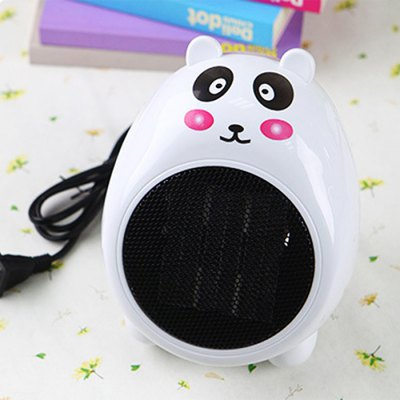 Panda Pattern Mini Warm Air Electric Heater