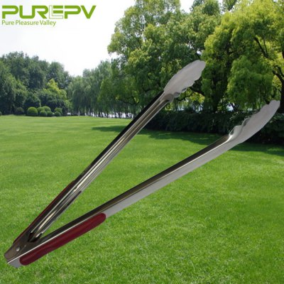 PUREPV XYG-SWJ42X Stainless Steel BBQ Food Tong