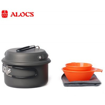ALOCS CW-C12 5pcs Cookware Set Camping Pot