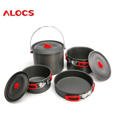 ALOCS CW-RT07 7pcs Cookware Set Camping Pot
