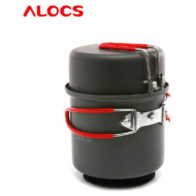 ALOCS CW-S08 2pcs Cookware Set Camping Pot for 1-2 Person