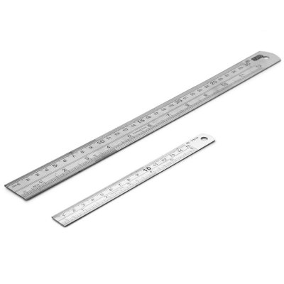Фотография 30cm THD Stainless Steel Double Sided Scale Ruler