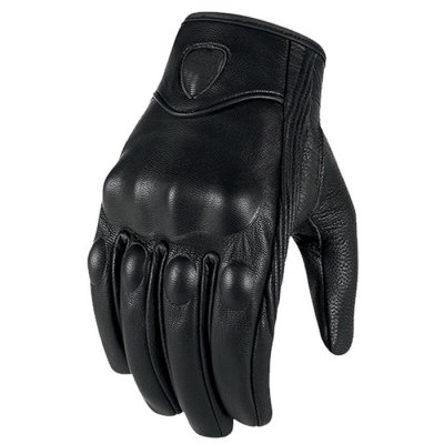 Icon Full Finger Motorcycle GlovesMotorcycle Gloves<br>Icon Full Finger Motorcycle Gloves<br><br>Accessories type: Motorcycle Gloves<br>Gender: Universal<br>Material: Leather<br>Size: L,M,XL<br>Color: Black<br>Product weight: 0.150 kg<br>Package weight: 0.220 kg<br>Package size (L x W x H): 10.00 x 10.00 x 10.00 cm / 3.94 x 3.94 x 3.94 inches<br>Package Contents: 1 x Pair of Icon Full Finger Safety Motorcycle Gloves