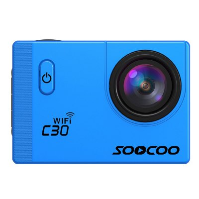 Original SOOCOO C30 WiFi 170 Degree 4K Ultra HD Action CameraAction Cameras<br>Original SOOCOO C30 WiFi 170 Degree 4K Ultra HD Action Camera<br><br>Brand: Soocoo<br>Model: C30<br>Type: Sports Camera<br>Chipset Name: Novatek<br>Chipset: Novatek 96660<br>System requirements: Mac OS x 10.3.6 above,Win 7,Windows 2000 / XP / Vista<br>Max External Card Supported: TF 64G (not included)<br>Class Rating Requirements: Class 10 or Above<br>Screen size: 2.0inch<br>Screen type: LTPS<br>Screen resolution: 320x240<br>Battery Type: Removable<br>Capacity: 1050mAh<br>Charge way: USB charge by PC<br>Working Time: 90min at 1080P 60fps<br>Camera Pixel : 12MP<br>ISO: Auto,ISO100,ISO200,ISO400<br>Video format: MP4<br>Video Resolution: 1080P (1920 x 1080),2K(2560 x 1440)30fps,4K (2880 x 2160),720P (1280 x 720),VGA (640 x 480)<br>Video System: NTSC,PAL<br>Video Output : HDMI<br>Image Format : JPEG<br>Exposure Compensation: -2.0~2.0<br>White Balance Mode: Auto<br>Microphone: Built-in<br>WIFI: Yes<br>WiFi Function: Remote Control<br>WiFi Distance : 15m<br>Waterproof: Yes<br>Water Resistant: 30m<br>Loop-cycle Recording : Yes<br>Loop-cycle Recording Time: 10min,3min,5min,OFF<br>Motion Detection: Yes<br>Night vision : Yes<br>HDMI Output: Yes<br>WDR: Yes<br>USB Function: PC-Camera,USB-Disk<br>Time Stamp: Yes<br>Camera Timer: Yes<br>Time lapse: Yes<br>Auto Focusing: No<br>Anti-shake: No<br>Aerial Photography: No<br>Interface Type: Micro HDMI,Micro USB,TF Card Slot<br>Language: English,French,German,Italian,Japanese,Portuguese,Russian,Simplified Chinese,Spanish,Traditional Chinese<br>Product weight: 0.062 kg<br>Package weight: 0.650 kg<br>Product size (L x W x H): 5.90 x 4.10 x 3.20 cm / 2.32 x 1.61 x 1.26 inches<br>Package size (L x W x H): 22.00 x 14.00 x 11.00 cm / 8.66 x 5.51 x 4.33 inches<br>Package Contents: 1 x SOOCOO C30 Action Camera, 1 x Waterproof Housing, 1 x Bike Handlebar Holder, 1 x Quick Release Buckle, 1 x Tripod Adapter, 2 x Short Connector + Short Screw, 1 x Long Connector + Shor