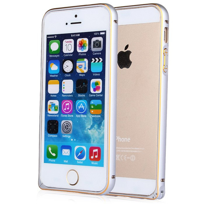 ASLING Protective Case for iPhone 5-5S-SE with Metal Bumper Sea Horse Buckle