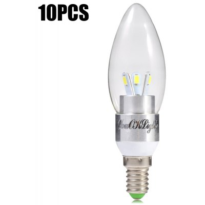 10pcs YouOKLight E14 3W 6 x SMD 5630 300LM LED Candle Bulb