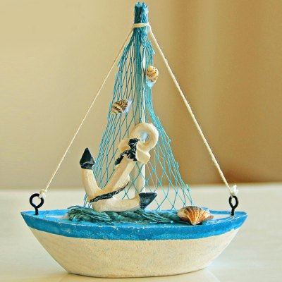 Mediterranean Style Wooden Sailing Ship Decors