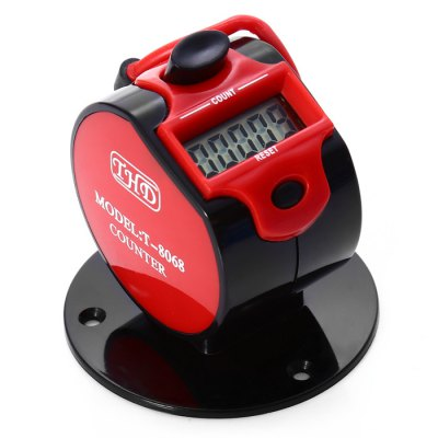 THD T-8068 Electronic Digital Tally CounterOther Instruments<br>THD T-8068 Electronic Digital Tally Counter<br><br>Brand: THD<br>Model: T-8068<br>Material: ABS,Stainless Steel<br>Type: Measuring instruments<br>Primary functions: LCD Digital Counter<br>Scope of application: Agricultural,Industrial,Market,Office,Product,Supermarket<br>Product weight: 0.028 kg<br>Package weight: 0.054 kg<br>Product size: 5.70 x 5.70 x 5.50 cm / 2.24 x 2.24 x 2.17 inches<br>Package size: 6.70 x 6.70 x 6.50 cm / 2.64 x 2.64 x 2.56 inches<br>Package Contents: 1 x THD T-8068 5 Digit Electronic LCD Digital Hand Tally Counter, 2 x 1.5V AG13 Button Battery