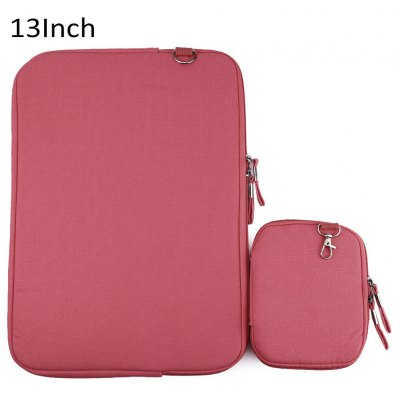 13 Inch Denim Canvas Notebook Sleeve Case Laptop Bag Pouch Cover for Macbook Air Pro