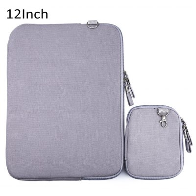 12 Inch Denim Canvas Notebook Sleeve Case Laptop Bag Cover for Macbook Air Pro
